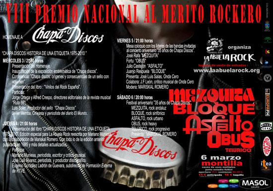 Jornadas VIII Premio Mérito Rockero